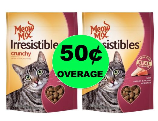 FREE Meow Mix Cat Treats + 50¢ Overage at Walmart! ~ Right Now!