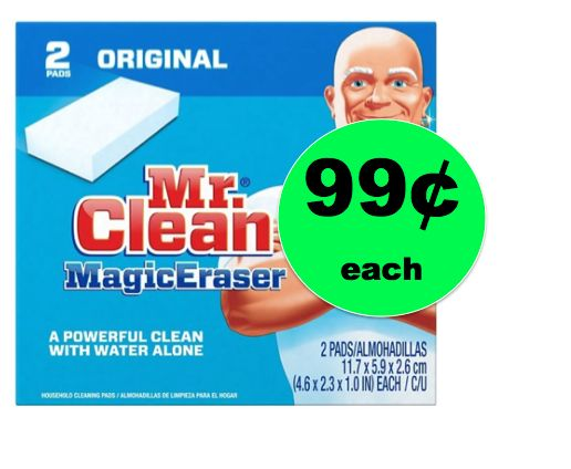 Score 99¢ Mr. Clean Magic Erasers 2-Pack at Target! (Ends 4/28)
