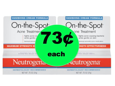 Get Clearer Skin with Neutrogena Acne Spot Treatment ONLY 73¢ at Walmart {and Target too}! ~Right Now!