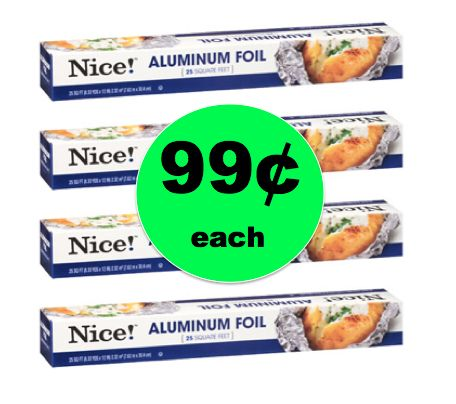 Super Easy Stock Up Deal on Nice! Aluminum Foil ONLY 99¢ Each at Walgreens! ~Starts Sunday!