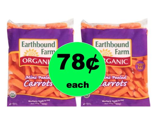 Print This RARE Coupon Now to Get Organic Baby Carrots ONLY 78¢ Each At Walmart! ~Right Now!