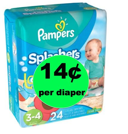 Pick Up Pampers Splashers Swim Diapers As Low As 14¢ per Diaper at Walmart! ~ Right Now!