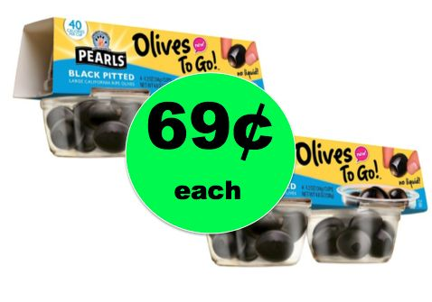 The Cheap Snack is Back! Pick Up 69¢ Pearls Olives To Go 4 Packs at Target! ~ NOW!