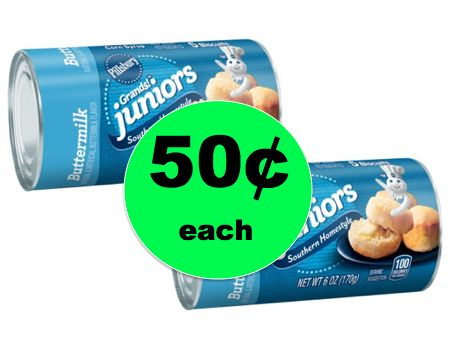 Hot Buttered Biscuits Anyone? Pillsbury Grands Junior Biscuits ONLY 50¢ Each at Walmart! ~ NOW!