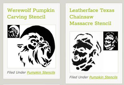 FREE Pumpkin Carving Stencils!