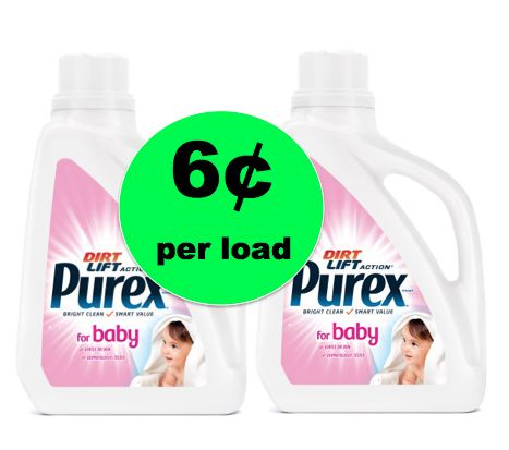 Pick Up Purex Baby Laundry Detergent ONLY 6¢ Per Load at Walmart! ~ Going On Now!