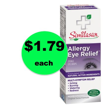 Don't Miss Out on $1.79 Similasan Allergy Eye Relief Eye Drops {Reg. $8} at Target! ~Ends Tuesday!