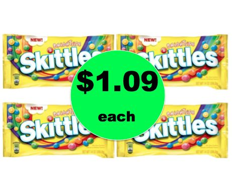 Get Skittles Candy Bags ONLY $1.09 Each or Fun Size $1.50 Each at Target! ~Right Now!