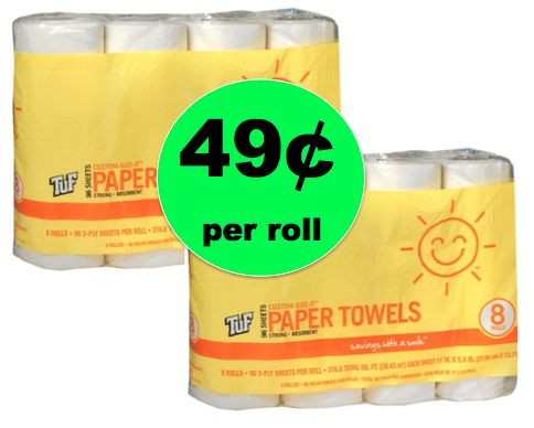 Smile & Save Paper Towels Only 49¢ Per Roll at Walgreens {NO Coupons Needed}! ~ Right Now!