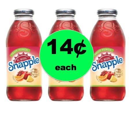 Cheap Refreshment with Snapple Drink Singles ONLY 14¢ Each at Target! ~NOW!