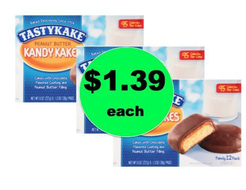 with $1.39 TastyKake Snacks at Target
