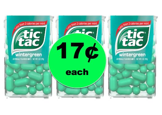 Keep Minty Fresh Breath with Tic Tac Mints Only 17¢ Each at Walgreens! ~ This Week!