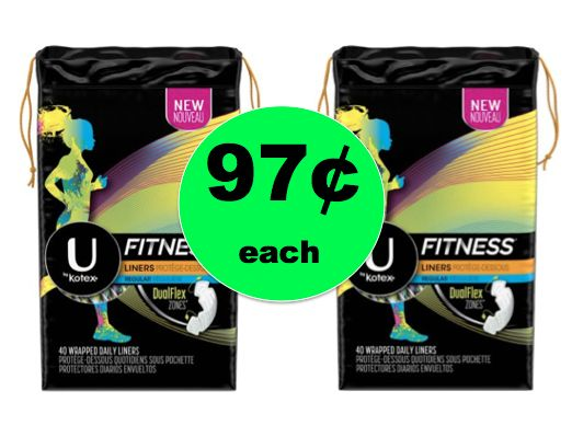 Great Girly Deal! Get U by Kotex Pantiliners Only 97¢ Each Right Now at Walmart!