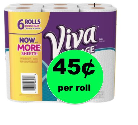 Clean Up with Viva Vantage Paper Towels ONLY 45¢ Per Roll at Walgreens! ~This Week!