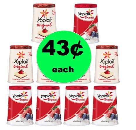 Quick Healthy Snack! Pick Up Yoplait Yogurt Only 43¢ per Cup at Walmart! ~Right Now!