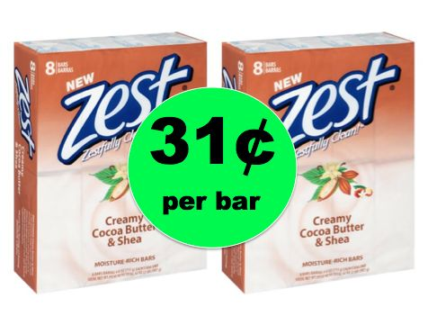 Stock Up on Zest Bar Soap 8 Packs ONLY 31¢ per Bar at Walmart! ~Right Now!