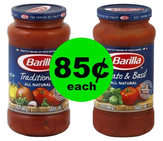 Get Ready for Spaghetti Night With This Great Deal! Barilla Pasta Sauce for 85¢ Each at Publix! ~ Ends Sunday!