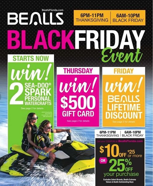 Bealls Black Friday Ad Scan 2017 {Chance to Win a $500 Gift Card or Lifetime Discount!}