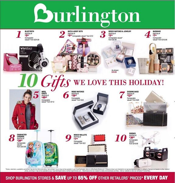 Burlington, once known as Burlington Coat Factory, is a retail store. They sell clothing, shoes, outerwear, home goods, and accessories. There are Burlington locations in the United States. Burlington Opening Hours.