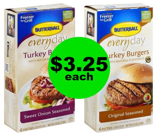 Eating Healthier Lately? Butterball Turkey Burgers Only $3.25 Each at Publix! ~ Ends Tues/Weds!