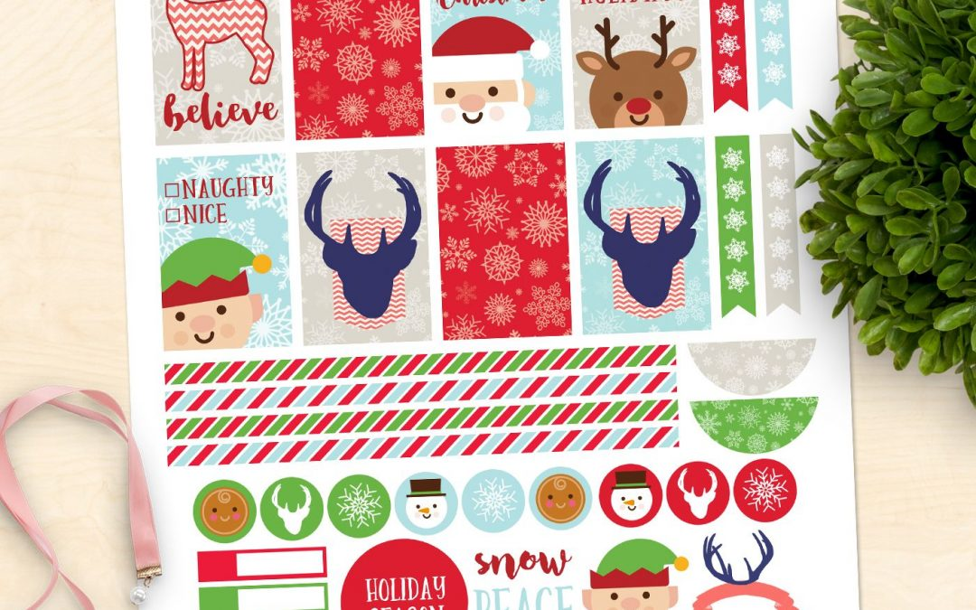 FREE Christmas Planner Printable Stickers!