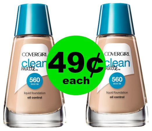 CRAZY Cheap Foundation! CoverGirl Clean Foundation 49¢ Each at CVS!~ Right NOW!