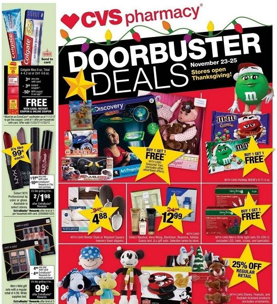 CVS Black Friday Ad Scan 2017 {FOURTEEN (14!) FREEbies!}
