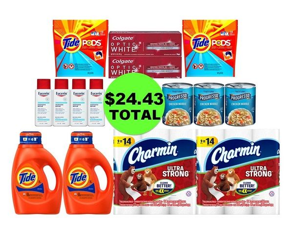 For Only $24.43 TOTAL, Get (2) Toothpastes, (2) Paper Products, (3) Soups, (4) Hand Creams & (4) Laundry Products This Week at CVS!