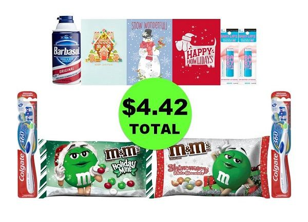 For Only $4.42 TOTAL, Get (1) Shave Cream, (2) Toothbrushes, (2) M&M's, (2) Lip Balms & (3) Cards This Week at CVS!