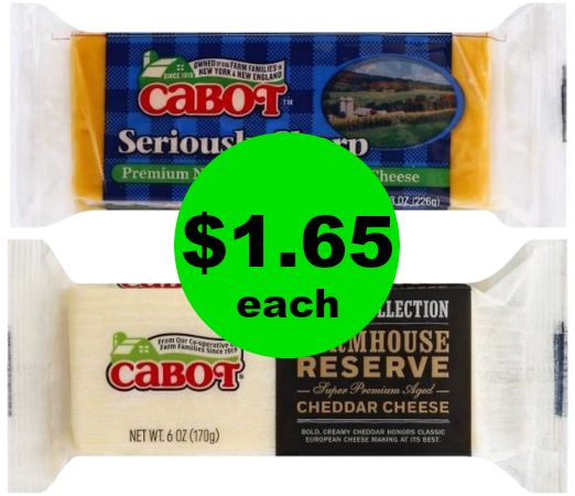 CHEAP Cheese? Yummy! Snatch Cabot Cheese Blocks ONLY $1.65 Each at Publix! ~ Ends Tonight!