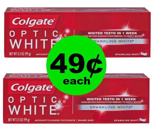 Stock Up Colgate Optic White Toothpaste for 49¢ Each at CVS! ~ Ad Starts Today!