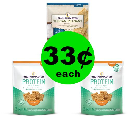 Big Crunch Alert! Snack Up on Crunchmaster Crackers 33¢ Each at Publix!  ~ Ends Wednesday!