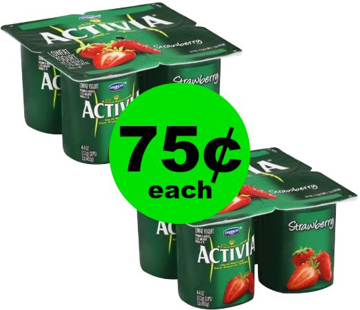 Love Yogurt?! Dannon Activia Yogurt 4 Packs Only 75¢ at Publix! {That's 19¢ Per Cup!} ~ Starts Friday!