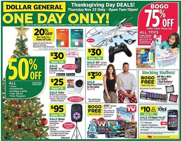 Dollar General Black Friday Ad Scan 2017 {Deals on iTunes & Restaurant Gift Cards!}