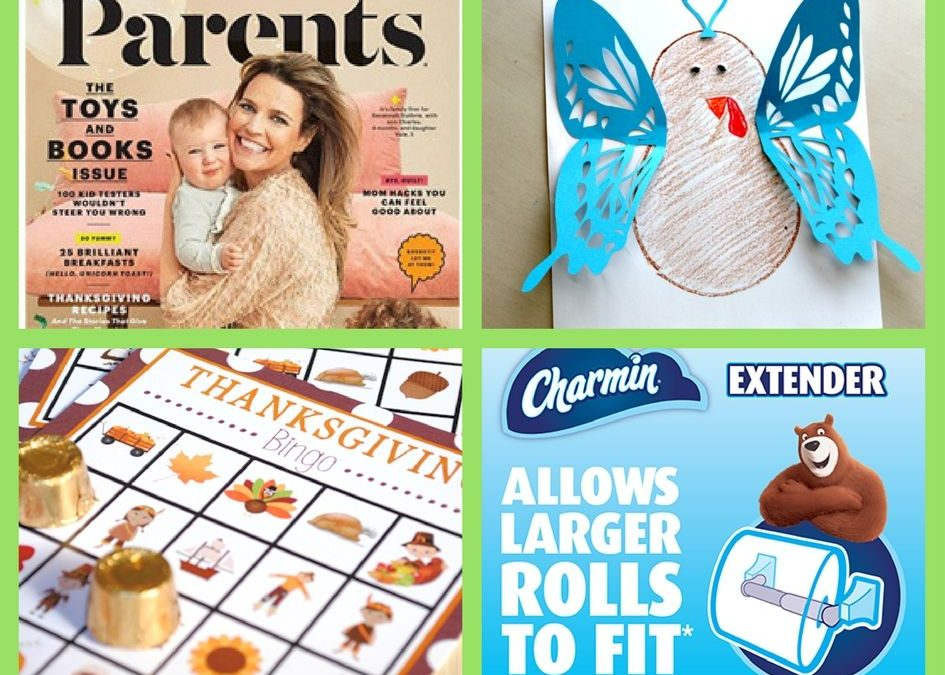 FOUR (4!) FREEbies: One Year Subscription to Parents Magazine, Turkey in Disguise Printable, Thanksgiving Bingo Printable and Charmin Roll Extender!