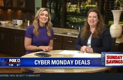 Fox 13 Savings Segment ~ SEVEN Best Tips on Saving the Most on Cyber Monday!