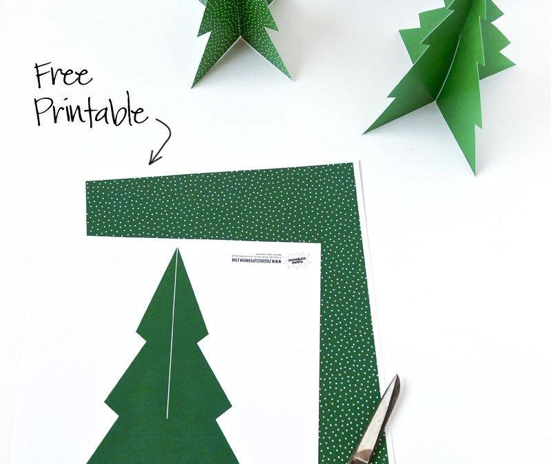 FREE Printable Pine Tree Christmas Decoration!