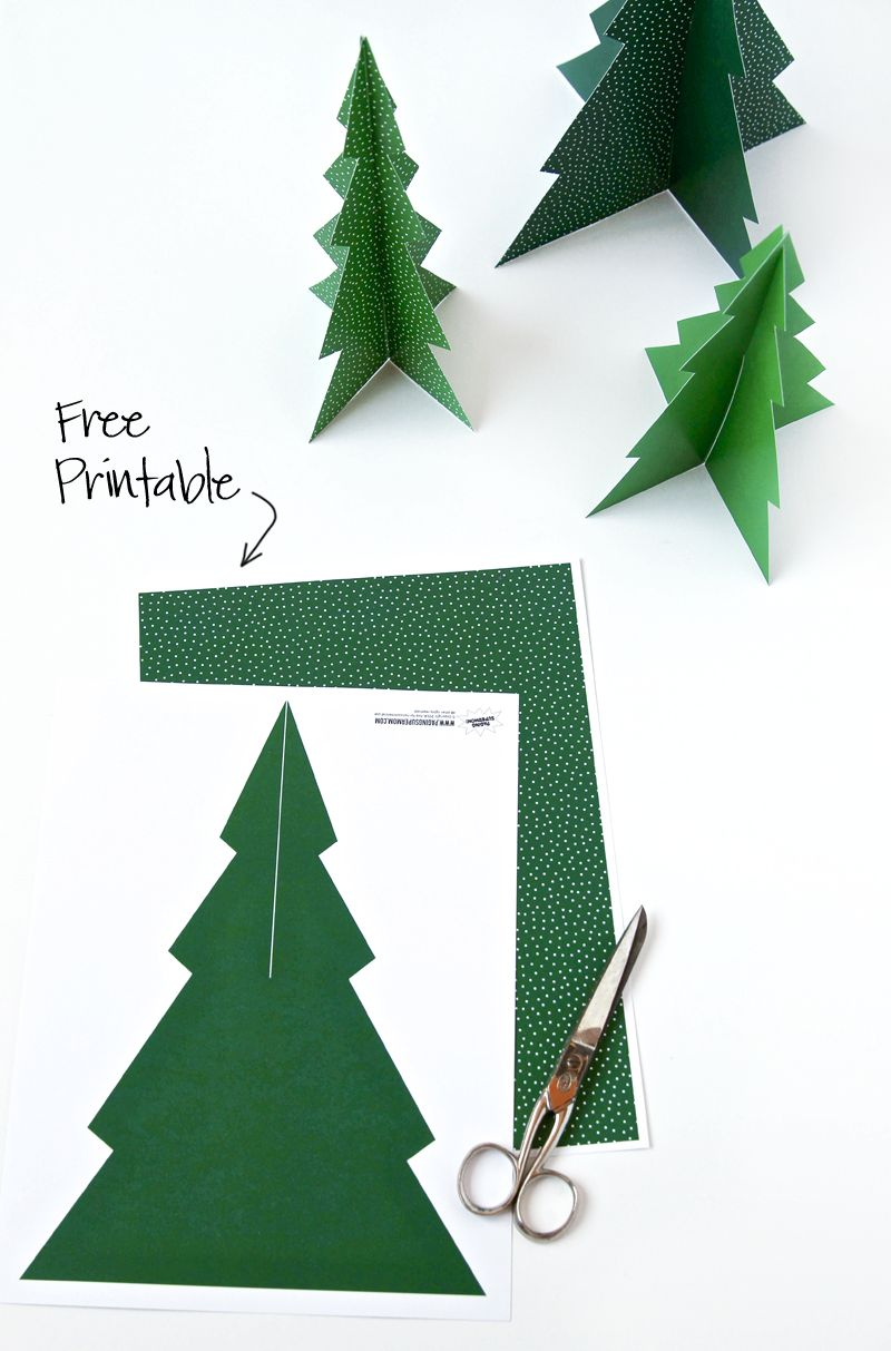 FREE Printable Pine Tree Christmas Decoration!