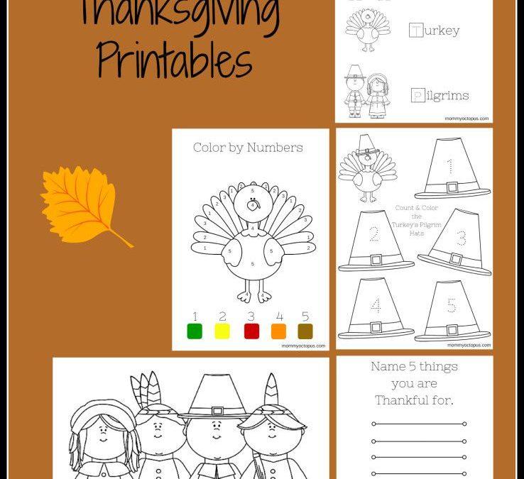FREE Thanksgiving Printable Activity Sheets!