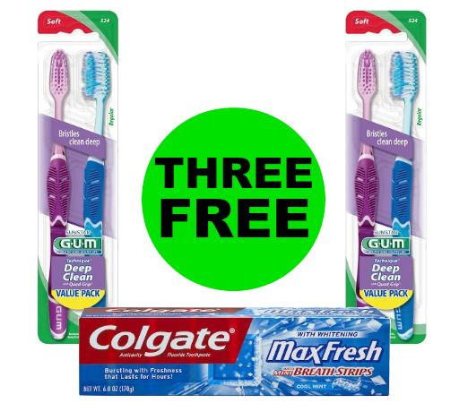 Pick Up THREE (3!) FREE Gum Toothbrushes & Colgate Toothpaste at CVS! ~ Starts Thursday 11/23!