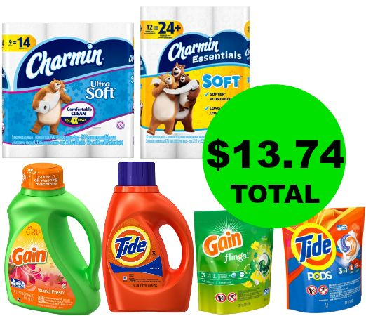 Stock Up on Household Items! Pick Up Gain, Tide, Bounty & Charmin for $2.29 Each at CVS! ~ Right Now!
