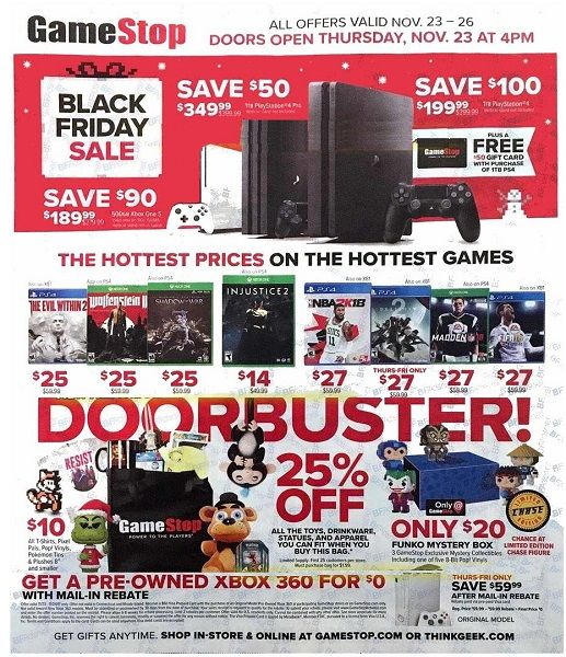 GameStop Black Friday Ad Scan 2017 {50% Off Hot Holiday Titles!}