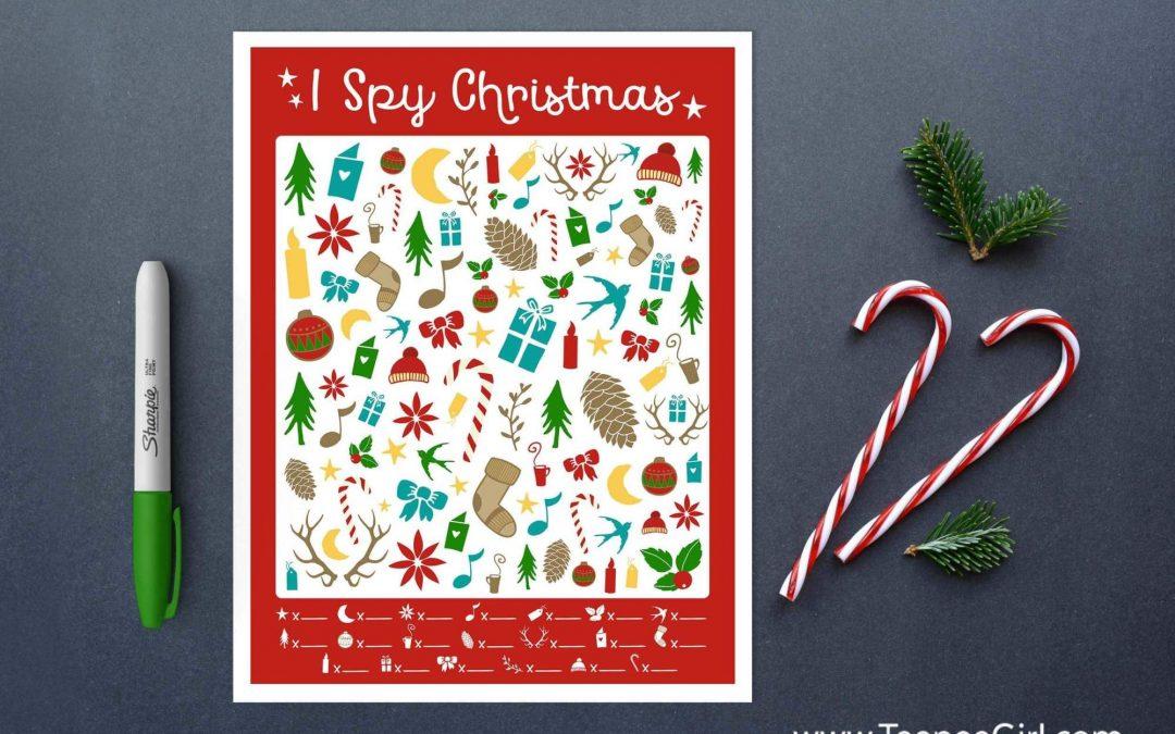 FREE I Spy Christmas Printable Game!