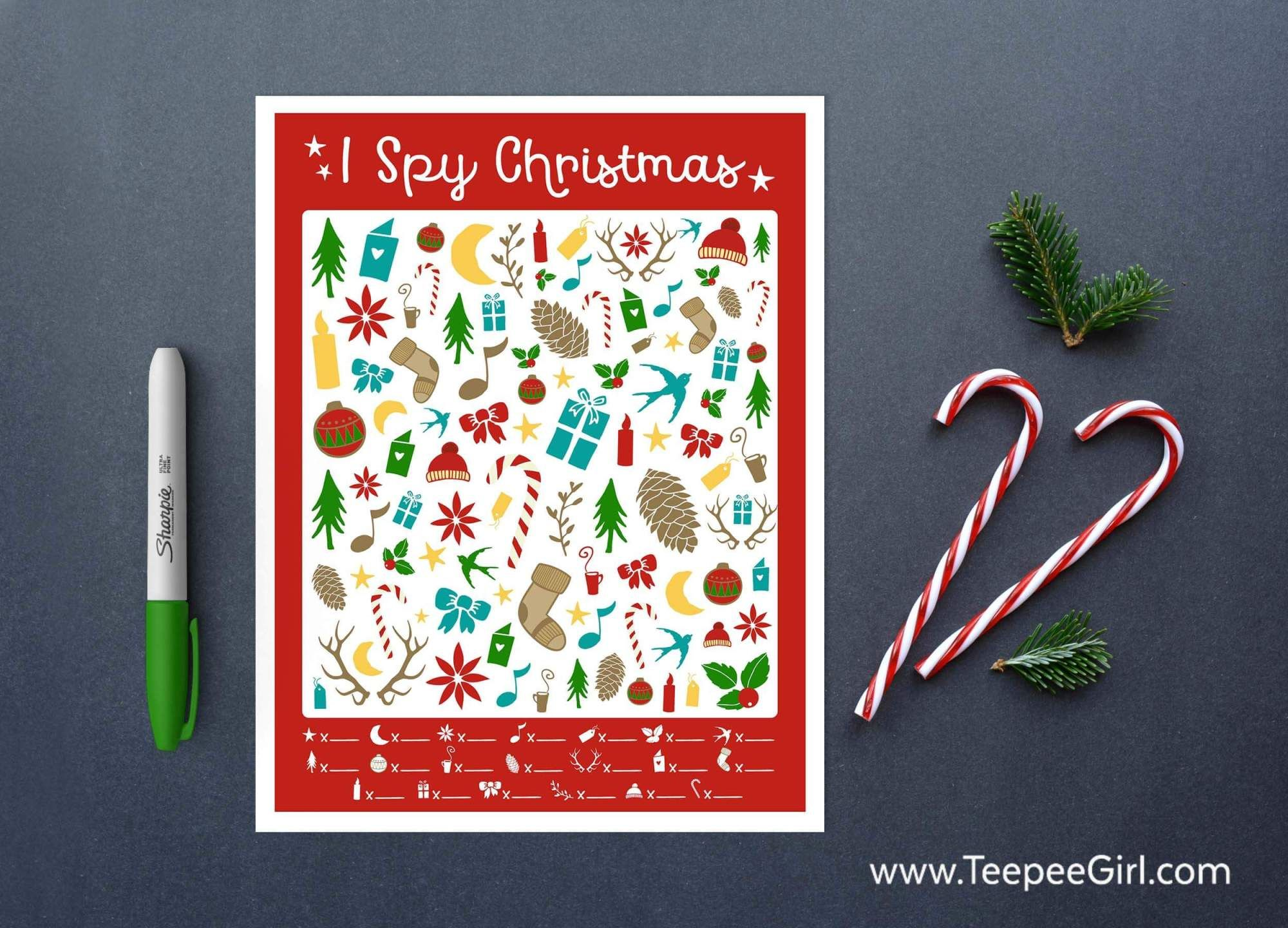 FREE I Spy Christmas Printable Game!