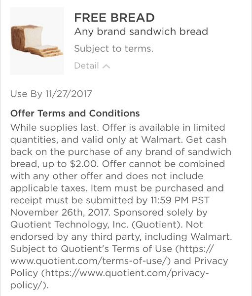 Don't Miss Out on FREE Bread (Up to $2) at Walmart! ~NOW!