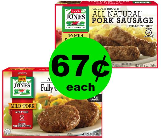 Quick & Easy Breakfast! 67¢ Jones Dairy Farm Sausage at Publix! ~ Ends Wednesday!