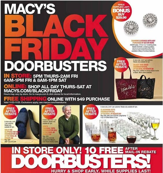 Macy's Black Friday Ad Scan 2017 {TEN (10!) FREEbies After Mail-In ...