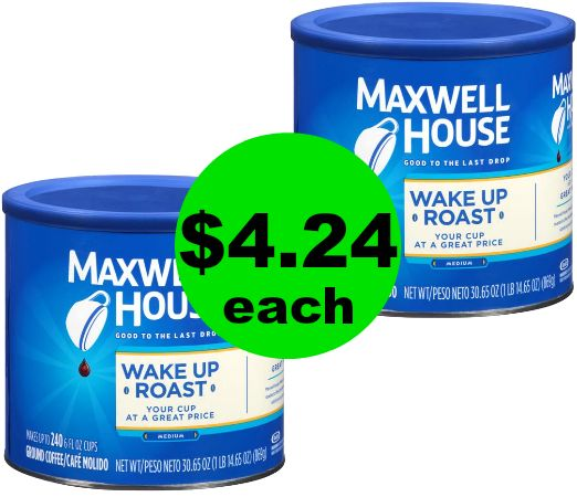 CHEAP Coffee! Grab Maxwell House Coffee for $4.24 Each {BIG Canisters!} at CVS!~ NOW!