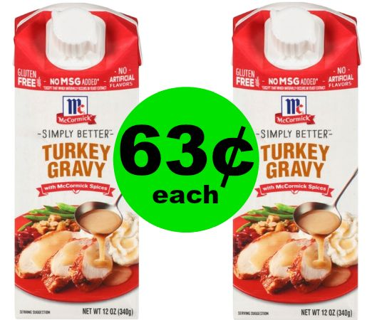 Get Ready for Thanksgiving! 63¢ McCormick Simply Better Gravy at Publix! ~ Starts Weds/Thurs!
