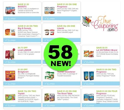 Did You SEE the Fifty-Eight (58!) **NEW** Coupons That Came Out Yesterday?! ~ Print Now!